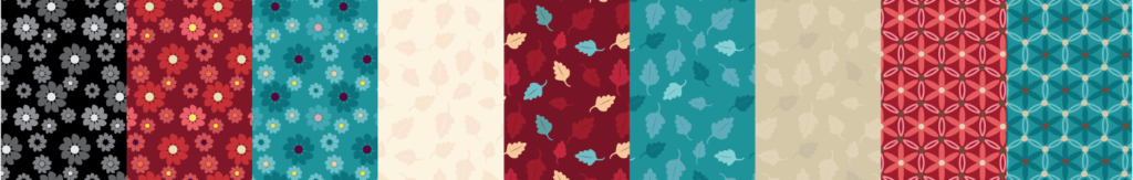 Fabric swatches created in Illustrator.